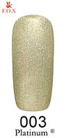 Гель-лак F.O.X Platinum 6 мл №003 холодный золотистый  металлик