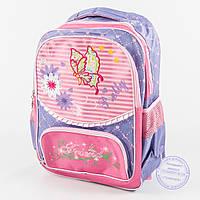 Оптом школьный рюкзак для девочек с бабочкой - сиреневый - 146, фото 1