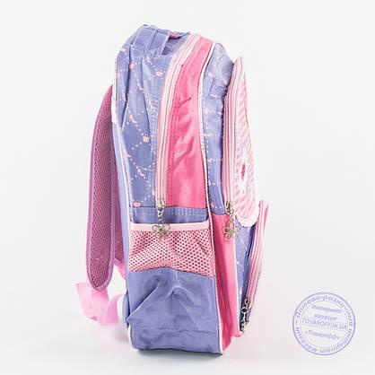 Оптом школьный рюкзак для девочек с бабочкой - сиреневый - 146, фото 3