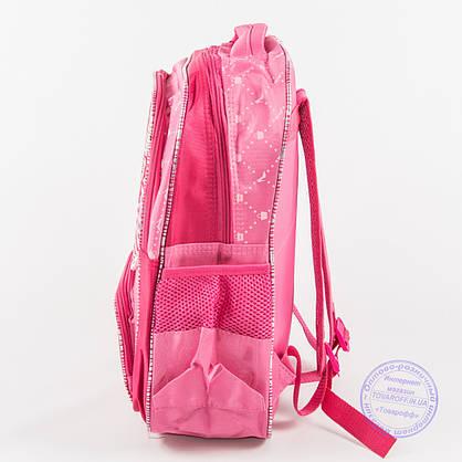 Оптом школьный рюкзак для девочек с бабочкой - малиновый - 146, фото 3