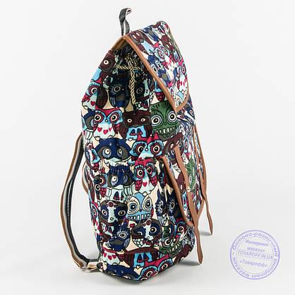 Оптом рюкзак для девочки с совами - синий - 161, фото 3