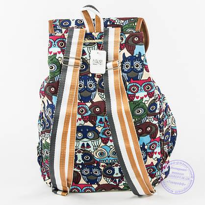 Оптом рюкзак для девочки с совами - синий - 161, фото 2