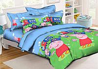 Детское постельное бельё Свинка Пеппа 150*220 хлопок, 2 наволочки (7644) TM KRISPOL Украина