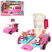 """Кукольный набор авто домик с аксессуарами """"Кафе на колесах"""" 899-50: 3 куклы + аксессуары"""