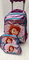 """Рюкзак на колесах """"Sofia"""" в наборе сумочка и пенал"""