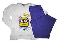 Пижама трикотажная для девочки, размер 134/140, Lupilu, арт. 317