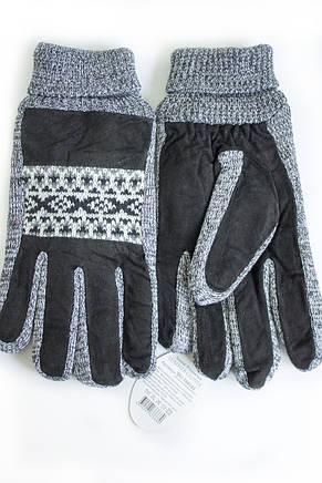 Мужские замшевые перчатки Shust Gloves Средние SG-160101s2, фото 2