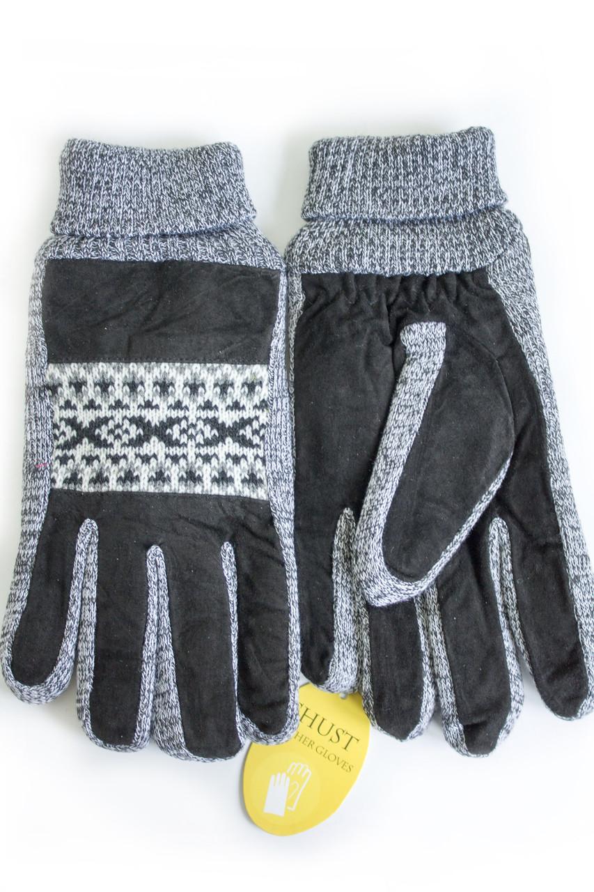 Мужские замшевые перчатки Shust Gloves Средние SG-160101s2
