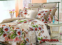 Двуспальный набор постельного белья из Ранфорса №0198 KRISPOL™
