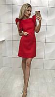 Женское красное платье с крылышками