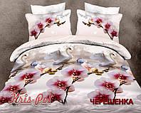 Двуспальный набор постельного белья из Ранфорса №18008 KRISPOL™