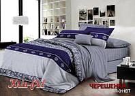 Двуспальный набор постельного белья из Ранфорса №18011 KRISPOL™