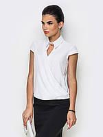 Жіноча однотонна біла блузка Karin