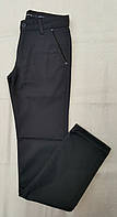 Коттоновые утепленные брюки на мальчиков 164,170,176,182 роста Тёмно-синие