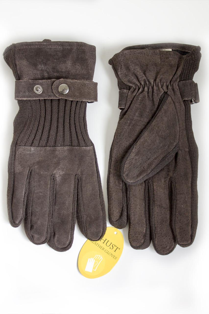 Мужские замшевые перчатки Shust Gloves BROWN Большие SGB-160135s3