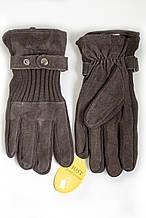 Мужские замшевые перчатки Shust Gloves BROWN 8-320