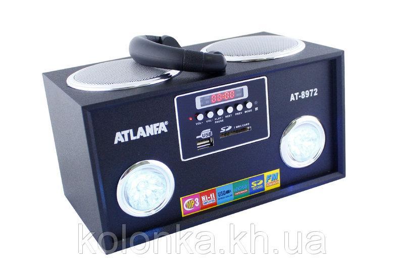 Портативная акустика Колонка Atlanfa AT-8973 /72=microSD, SD, USB флешь-память MP3
