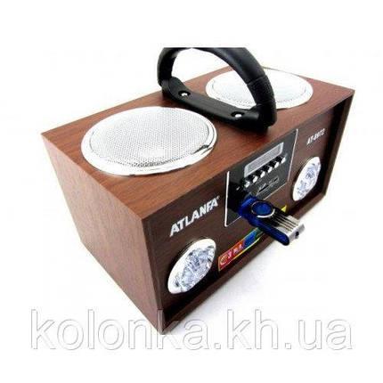 Портативная акустика Колонка Atlanfa AT-8973 /72=microSD, SD, USB флешь-память MP3 , фото 2