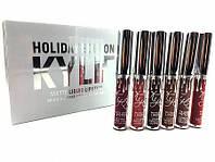 Набор жидких матовых помад Kylie Holiday Edition, 6 штук, Хит продаж