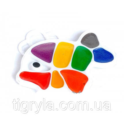 Краска акварельная рыбка 9цв, фото 2