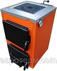Твердотопливный котел Термобар АКТВ-12 кВт с плитой (1 комфорка)