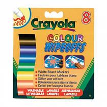 8 стираемых фломастеров для письма на доске, Crayola (8223)