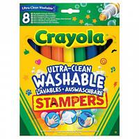 8 легко смываемых фломастеров-штампов, Crayola (58-8129)