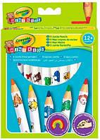 8 цветных карандашей из красного дерева, Crayola (3678)