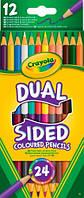 12 двухсторонних цветных карандашей (24 цвета), Crayola (68-6100)
