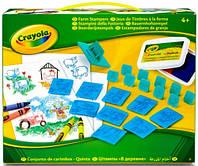 Набор для творчества с карандашами и штампами Ферма, Crayola (04-2019)