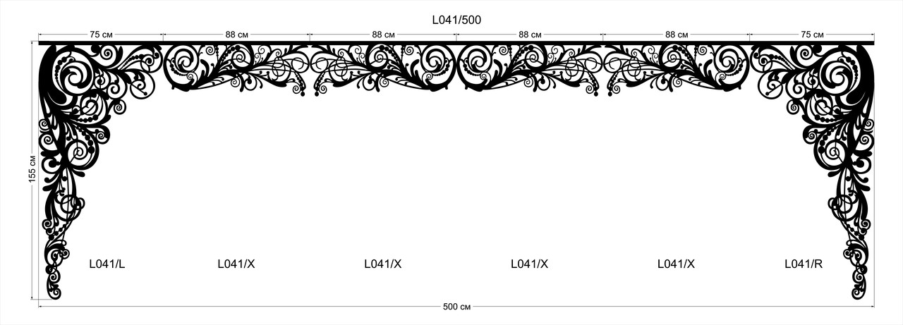 Ажурный ламбрекен L 041
