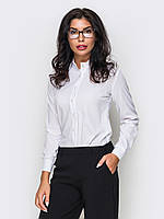 Класична однотонна біла блузка Evan