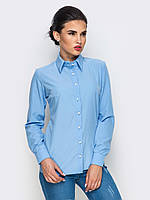 Класична однотонна голуба блузка Evan