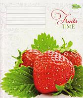 """Тетради 18 листов клетка """"Fruits time"""""""
