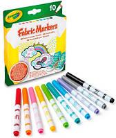 10 фломастеров для рисования по ткани, Crayola (58-8633)