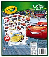 Книга-раскраска с наклейками Тачки-3, Crayola (04-0128)
