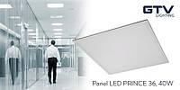Пылевлагостойкая LED панель GTV KING 42Вт 3200Лм IP54 60x60см 4000K 120°, алюминий