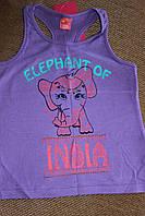 Фиолетовая майка со слоником на девочку ,размер 110