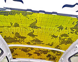 Разогреваем и клеим свою виброизоляцию на крышу авто (3 мм).
