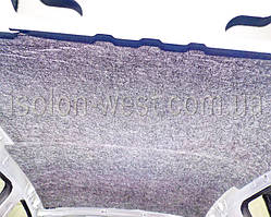 Далее следует добротный слой из войлока 10 мм. Лучшего шумопоглотителя в мире нет.