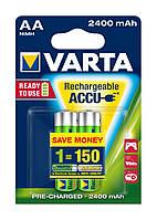 Аккумулятор  AA 2400mAh VARTA RECHARGEABLE BLI 2 (READY 2 USE)