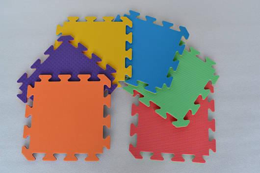 Коврик-пазл (мягкий пол), татами для детских комнат и спортивных залов, двухцветные  30х30х0,8см