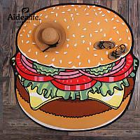 Пляжный коврик Гамбургер.d 143 х160 см.