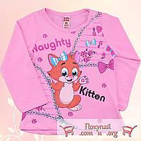 Кофточка с лисичкой розового цвета для девочек Размеры: 86-92-98-104 см (5504-3)