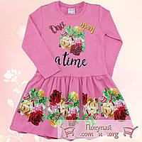 Платье с длинным рукавом для девочки Размеры: 98-104-110-116 см (5506-1)