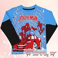 Джемпер с человеком пауком для мальчика Размеры: 98-104-110-116 см (5508-1)