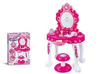 Детский игровой набор салон красоты трюмо со стульчиком 16693A: музыка+ звук+ 10 аксессуаров
