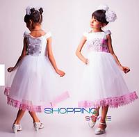 Нарядное праздничное платье для девочки( 5-6 лет)