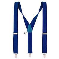 Bow Tie House Подтяжки мужские ярко-синие длинные 3.5 см Y