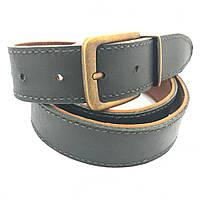 Ремень кожаный двухсторонний черный с коричневым толщина 4 мм
